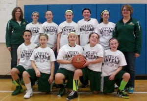 Mel-Min sixth-grade hoops champs at Border Battle