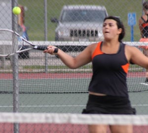 Hawk girls tennis team faces stiff competition