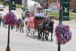 Gordon's funeral procession in Viroqua