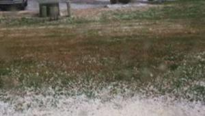 Raw: Hail and Lightning Strike Eastern Tennessee