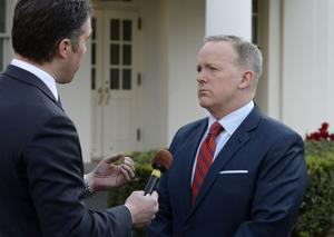 Sean Spicer should cool down and stick to the facts, predecessors say