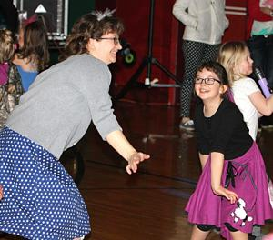 Scenes from the Viroqua Elementary School Sock Hop
