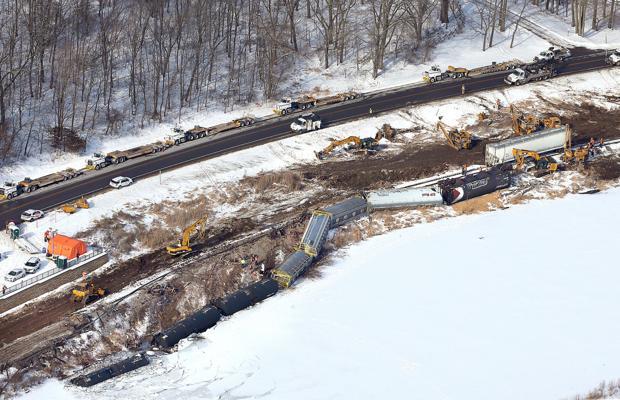 CP train derails near Brownsville
