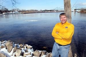 Hydrologist Mike Welvaert keeping eye on river systems in region