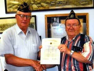 Navrestad honored by Westby Legion
