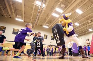 Photo gallery: Minnesota Vikings visit caledonia