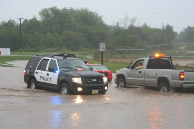 Cars Stall In Flood Water In Viroqua Flooding Occurs