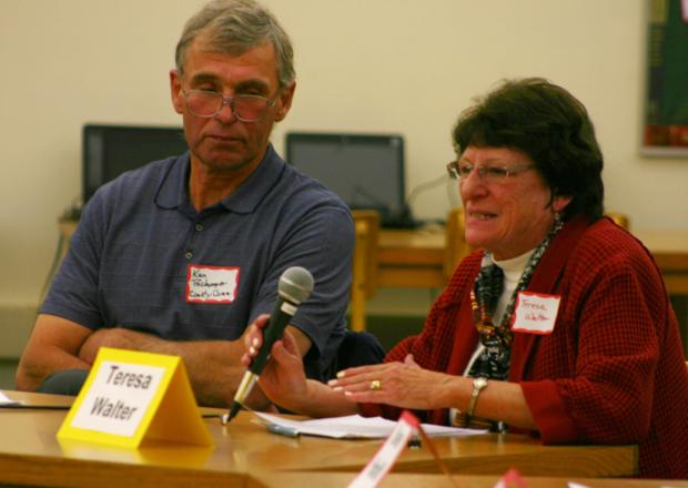 Commissioner candidates square off over mining issue