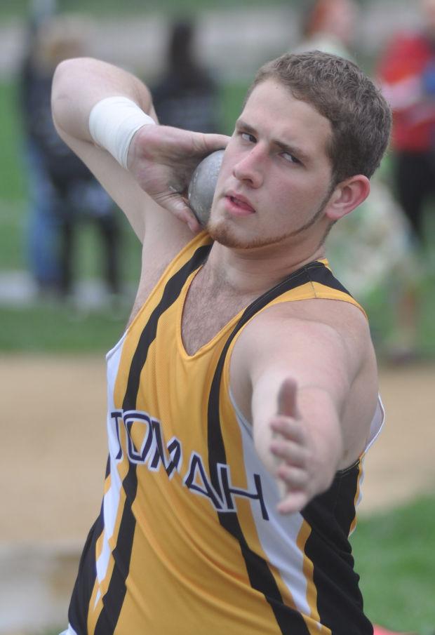 Track teams rule the triple jump tomah journal for Steve calkins