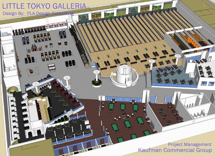Little tokyo mall planning bowling alley sports bar for Bowling alley floor plans