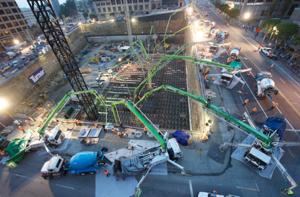 Wilshire Grand Project: The World's Most Continuous Concrete Pour