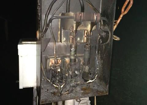 Lightning Zaps Electrical Equipment Firefighters Respond