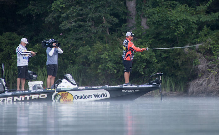 major league fishing lands lunkers at lake of the ozarks