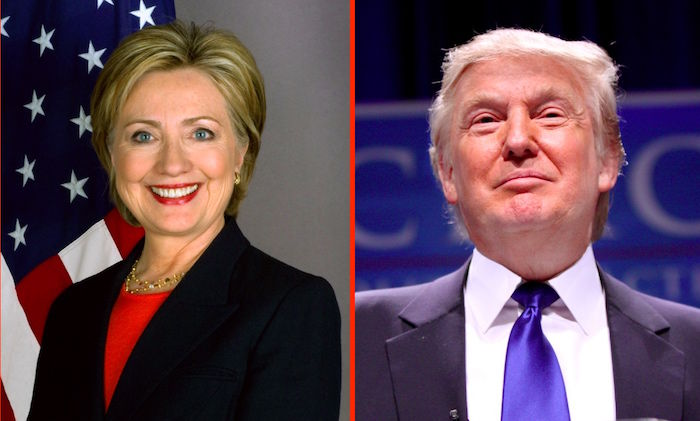 Clinton and Donald Trump win in key states