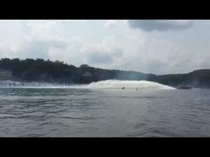 Shootout - Bob Bull's catamaran vs Airplane (Bull wins!)