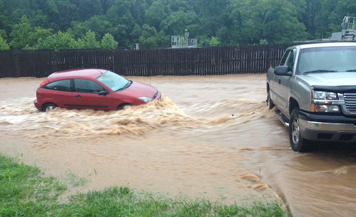 Flash flood alert lake area streets under water after heavy overnight