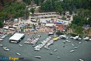 <p>Ron Duggan, Shootout Director and owner of Captain Ron's Bar & Grill, is asking the Village of Sunrise Beach to consider paving a section of road used by Shootout attendees.</p><p>photo by David Dilks</p>