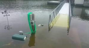 Dock Electric Under Water
