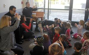 Police dog visits the Library