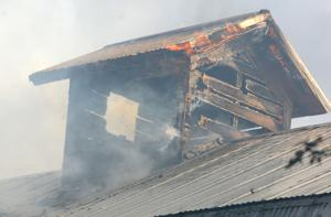 Blaze destroys farm structures on Tennessee Road