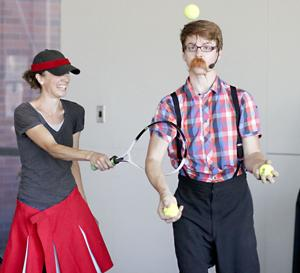 Juggler performs more than just juggling at the Lebanon Public Library