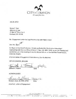 letter of engagement consulting template - city starr letter