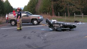 Albany man critically injured in Lacomb motorcycle crash