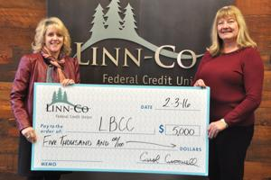 Credit Union donates to LBCC's new Healthcare Center