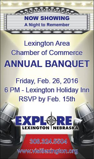 Lexington Area Chamber Banquet scheduled for Feb. 26