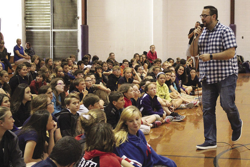 Positive choices set stage for life, speaker tells students