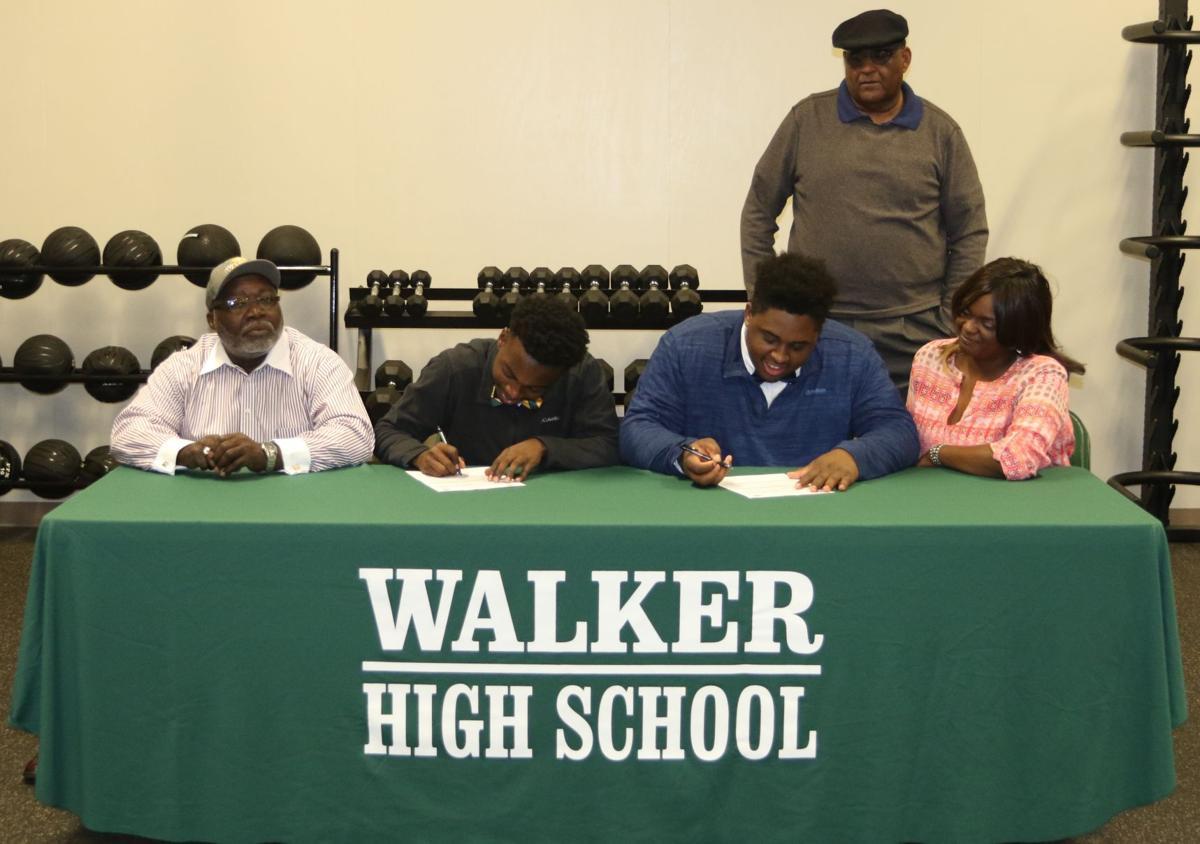 Walker football players Martin Brooks and Terrell Warner sign NLI