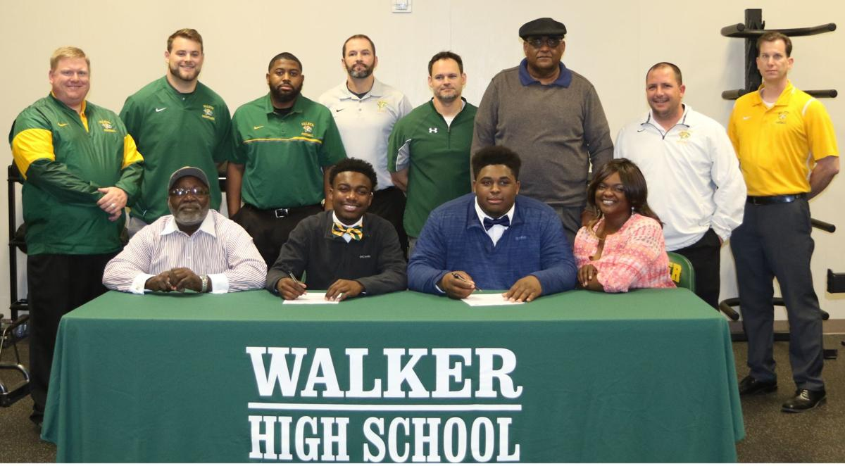 Walker football players Terrell Warner and Martin Brooks sign NLIs