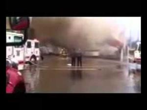 Fire at medical supply building