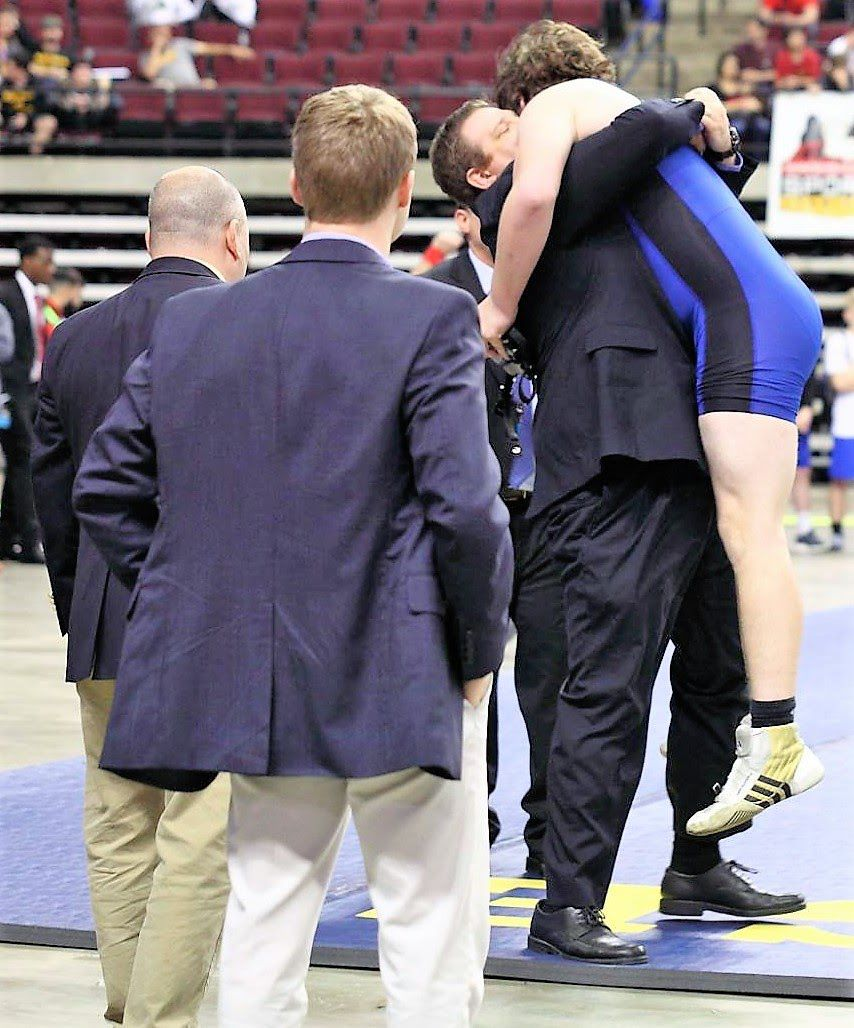 Live Oak wrestling at state meet Anthony Ingram Coach Collier