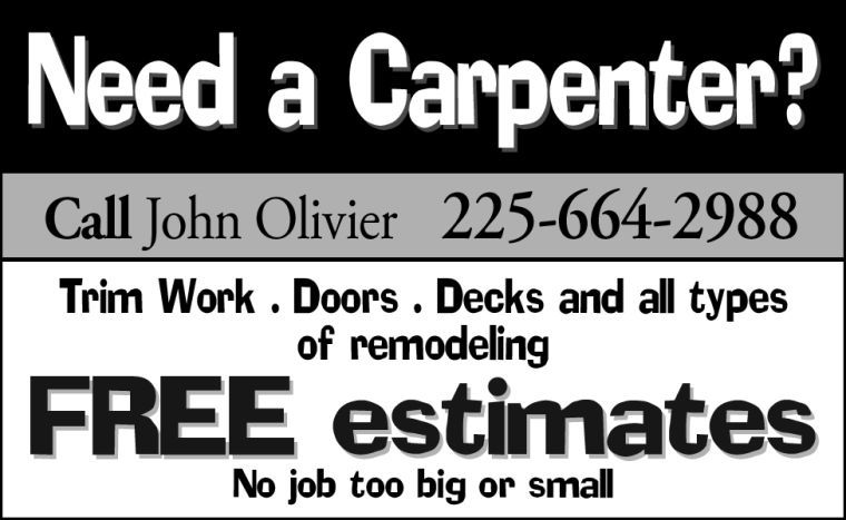 John Olivier carpentry