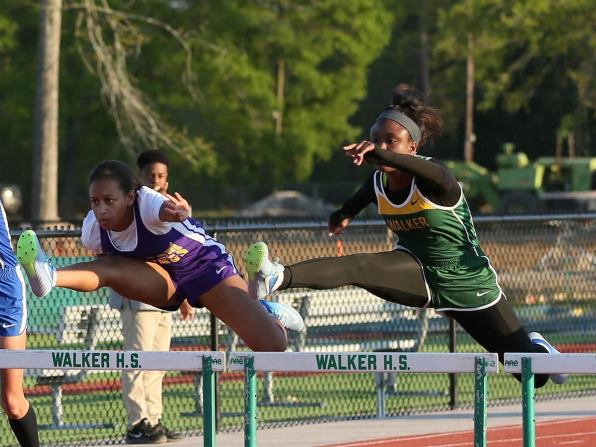 Parish track meet girls large school hurdles