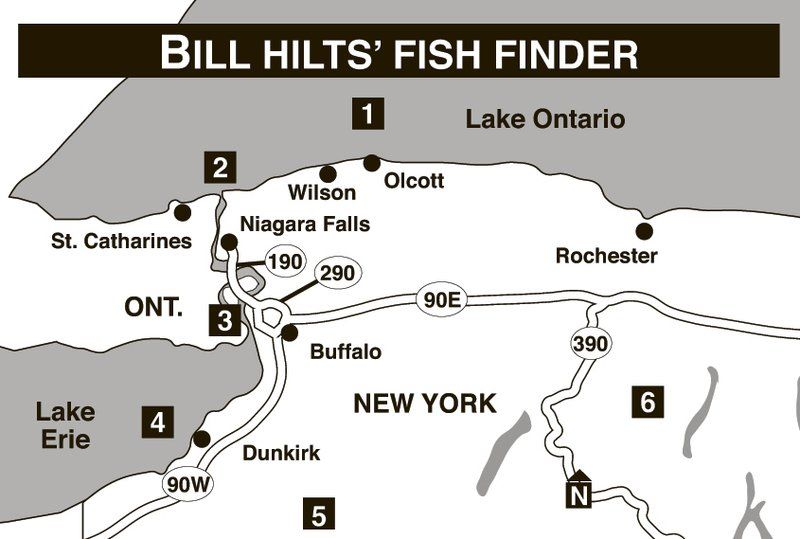 fish finder: some of the best spots to be are eighteenmile creek, Fish Finder