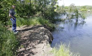 City of Lodi shoring up Mokelumne River levee against increased erosion