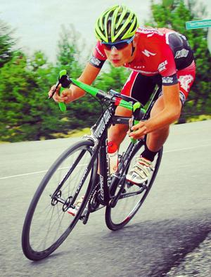 Jonathan Christensen's cycling career on fast track