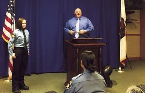 Lodi police welcome new officer, clerk