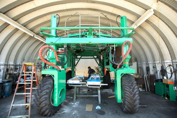 Lodi's Ag Industrial Manufacturing builds custom harvesters for wineries