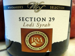 Woodbridge Section 29 Lodi Syrah