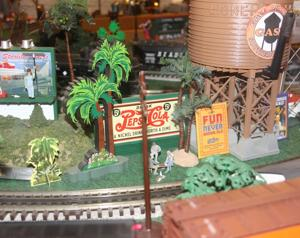 Jack Hornor's living room is one big train set
