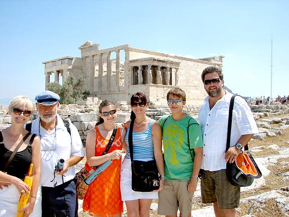 Kandris Family at the Acropolis, Athens, Greece June 2008