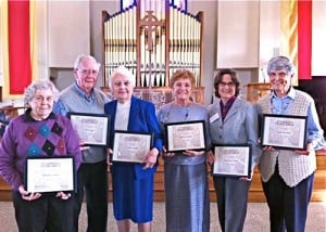 St. John's Episcopal Church honors seven for their service