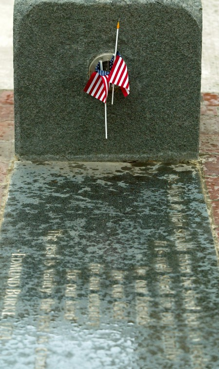 All Veterans Plaza's poetry stones honor our veterans