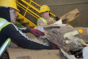 Sorting, recycling workers on pins and needles