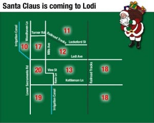 Santa Claus is coming to Lodi