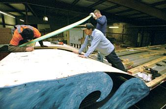 Making the float: Local company crafts entry for light parade