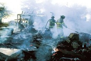 Fire destroys Galt garage, workshop; none injured
